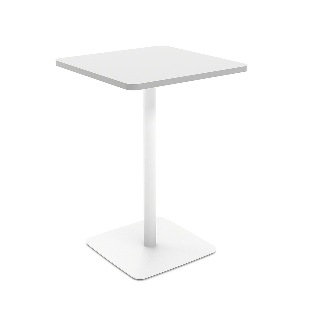 white simple square standup table modern office furniture  poppin - images white simple square standup table
