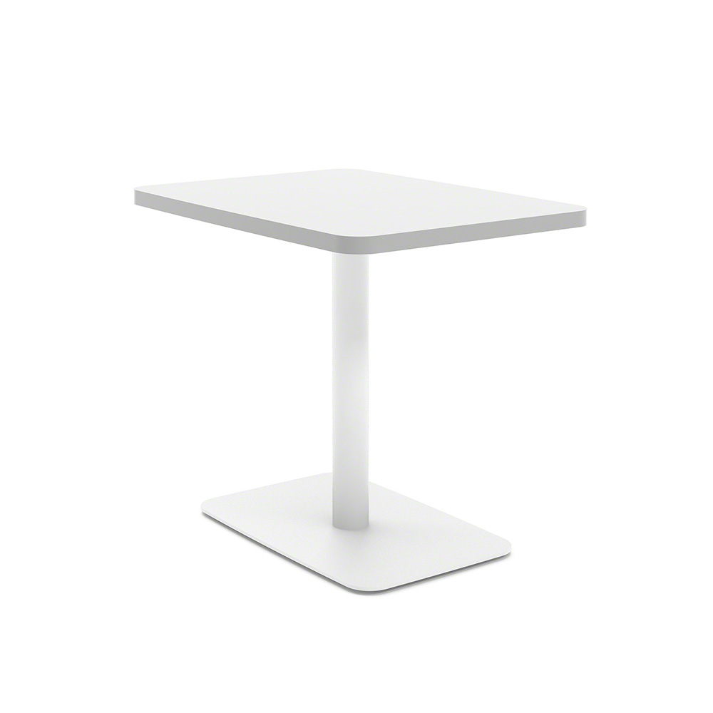 White Simple Lounge Side Table Hi Res