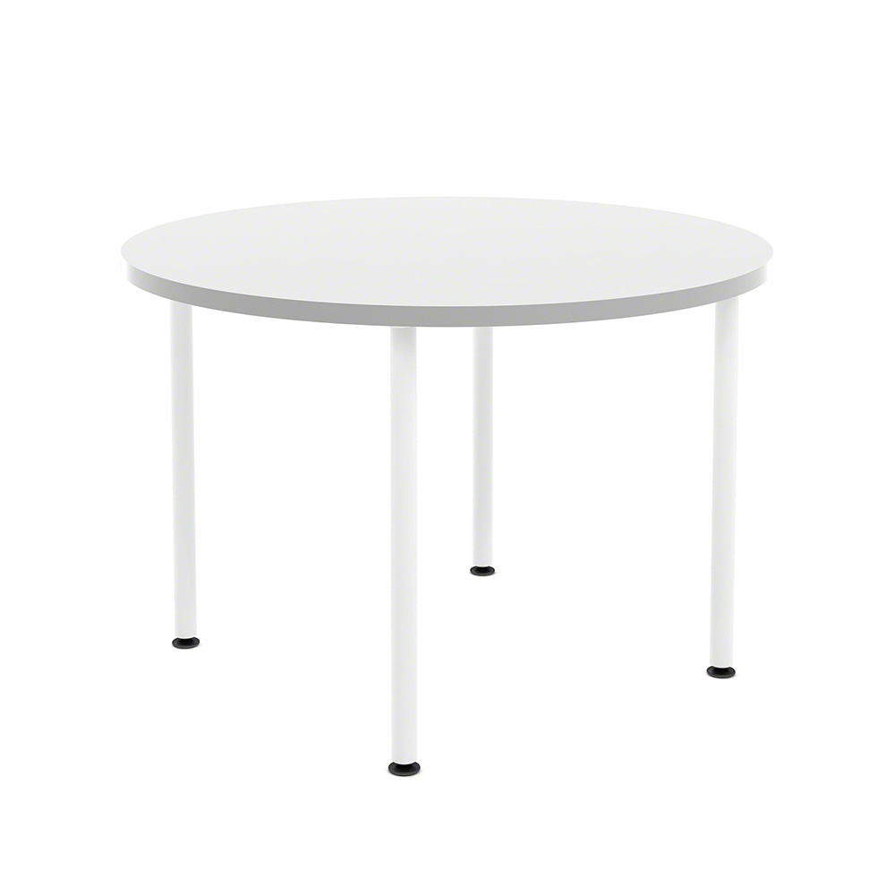 Images. White Simple Round Table ...