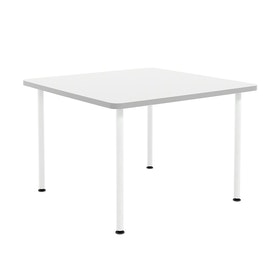 """White Simple Square Table, 42"""""""