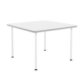 White Simple Square Table, 42""
