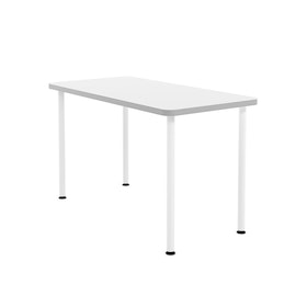 "White Simple Rectangular Table, 48"" Long"