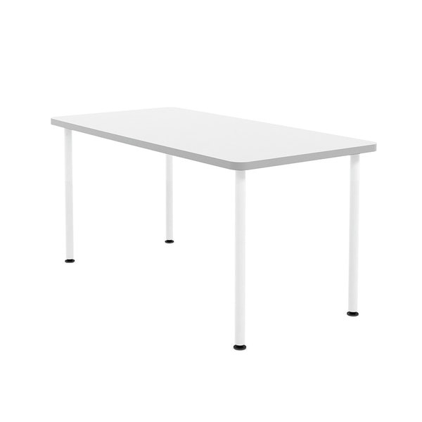"White Simple Rectangular Table, 60"" Long,White,hi-res"
