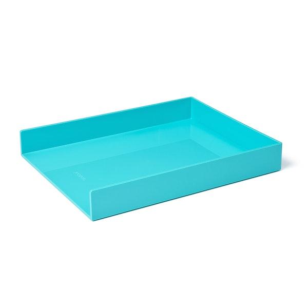 Aqua Single Letter Tray,Aqua,hi-res