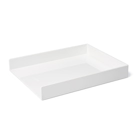 White Single Letter Tray