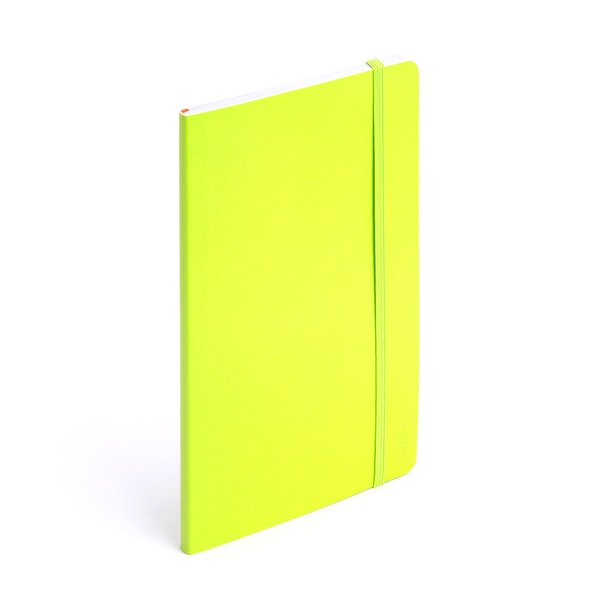 Lime Green Medium Soft Cover Notebook,Lime Green,hi-res