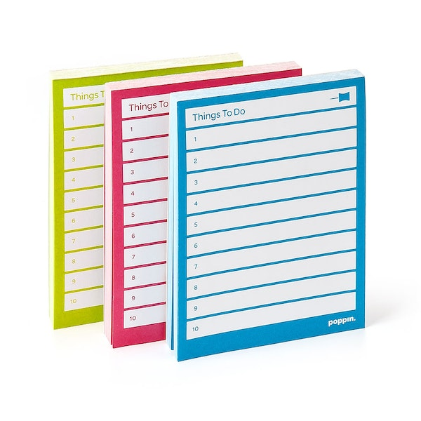Assorted Task Pads, Set of 3, Lime/Pool/Pink,Assorted,hi-res