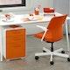 White + Orange Stow 3-Drawer File Cabinet,Orange,hi-res