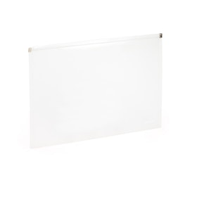 Clear Large Zip Folios, Set of 3,White,hi-res