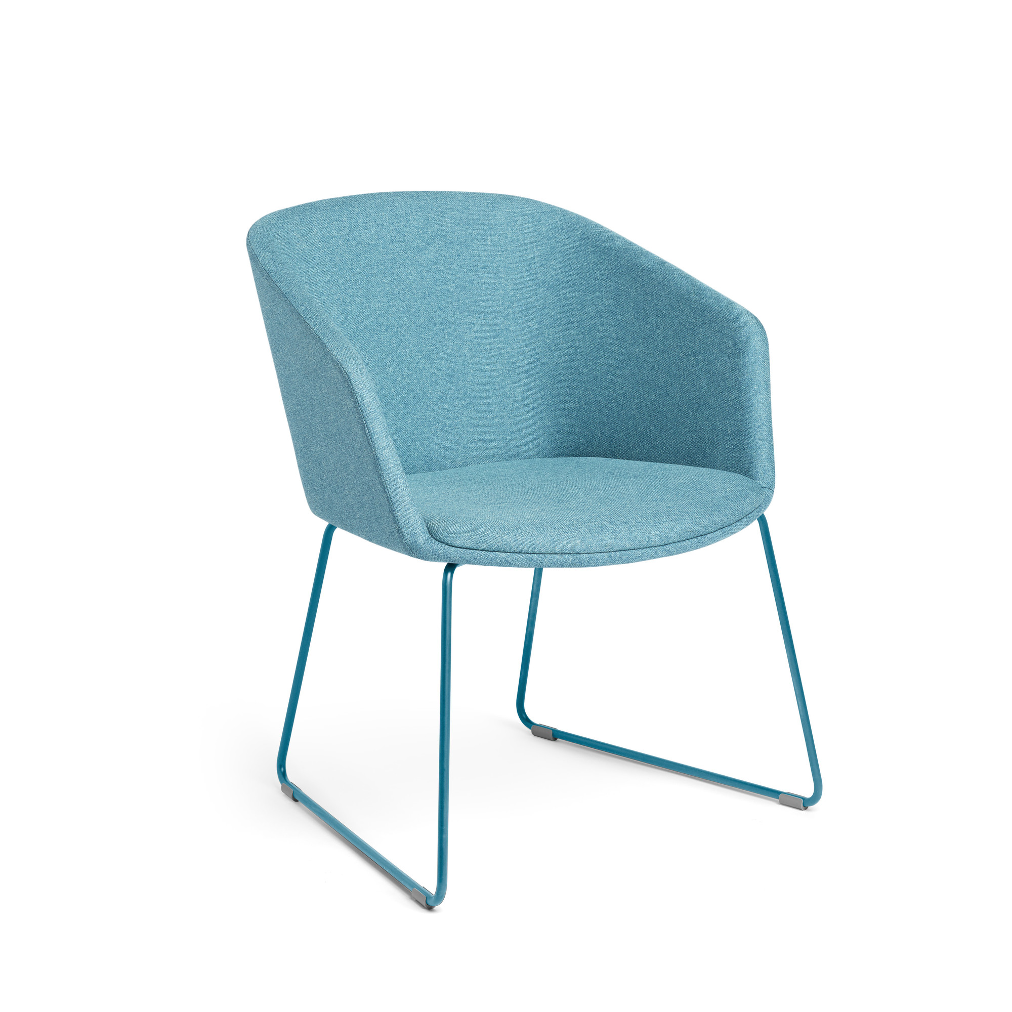 Blue Pitch Sled Chair Chairs