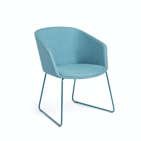 Blue Pitch Sled Chair