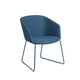 Dark Blue Pitch Sled Chair