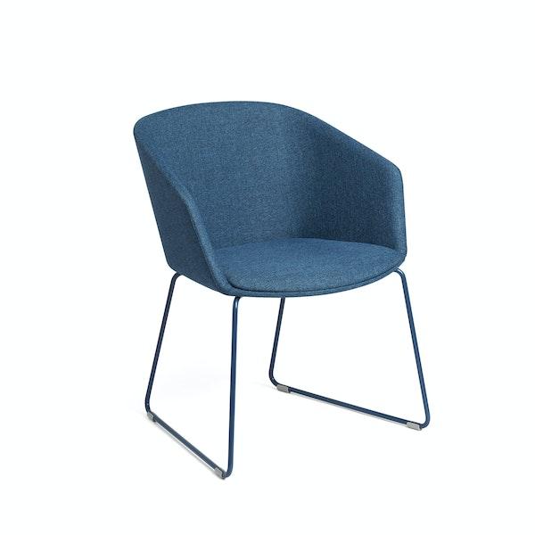 Dark Blue Pitch Sled Chair,Dark Blue,hi-res