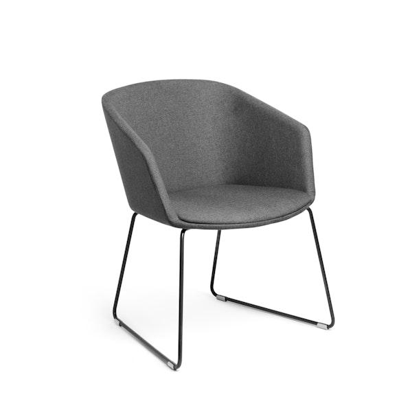 Dark Gray Pitch Sled Chair,Dark Gray,hi-res