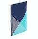 Navy + Aqua Slim Criss-Cross Notebook,Navy,hi-res