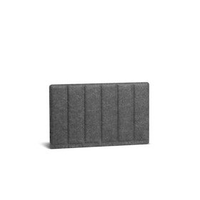 Dark Gray Pinnable Molded Privacy Panel, Side-to-Side, 28""