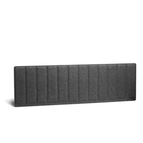 Dark Gray Pinnable Molded Privacy Panel, Side-to-Side, 57""