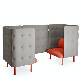 Brick + Gray QT Privacy Lounge Chair Booth
