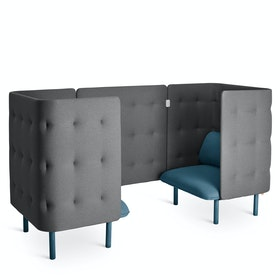 Dark Blue + Dark Gray QT Privacy Lounge Chair Booth