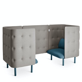Dark Blue + Gray QT Privacy Lounge Chair Booth