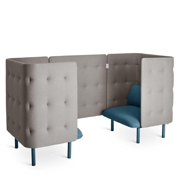 Dark Blue + Gray QT Chair Booth,Dark Blue,hi-res