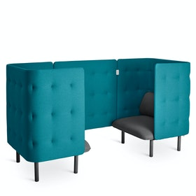 Dark Gray + Teal QT Chair Booth