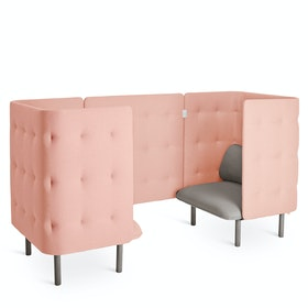 Gray + Blush QT Chair Booth