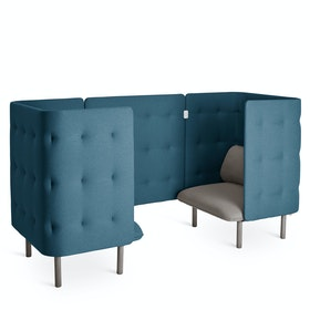 Gray + Dark Blue QT Chair Booth
