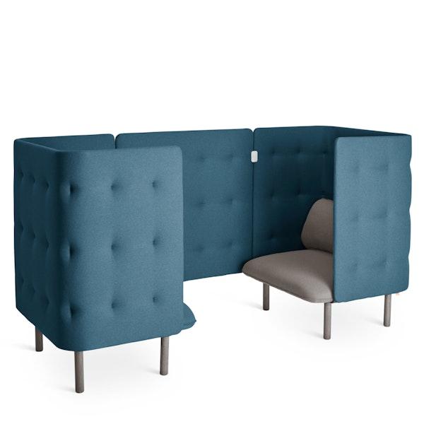 Gray + Dark Blue QT Chair Booth,Gray,hi-res