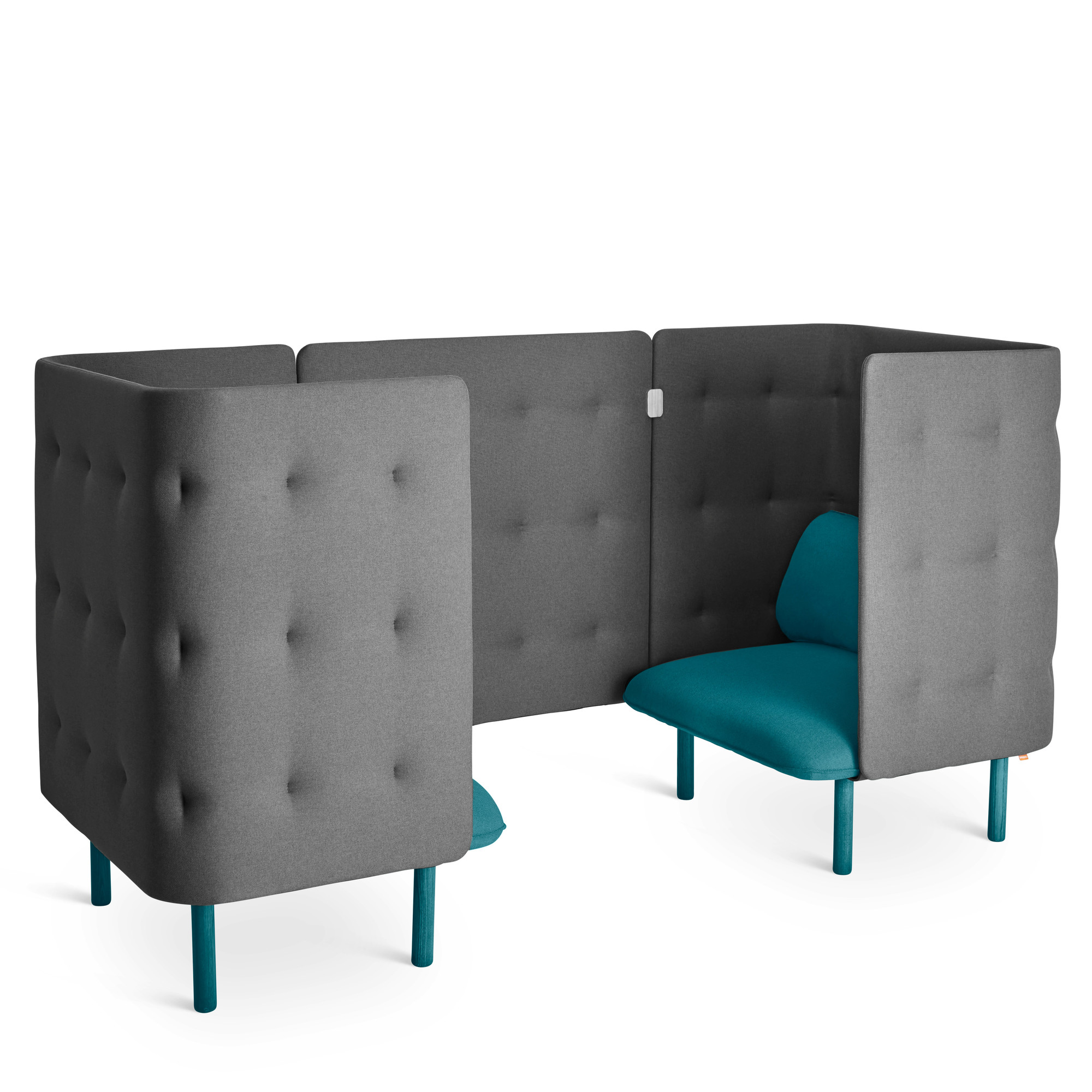 Teal Dark Gray Qt Chair Booth Lounge Poppin