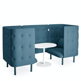 Dark Blue QT Privacy Lounge Chair Booth