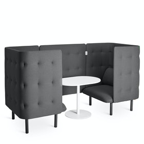 Dark Gray QT Chair Booth