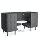 Dark Gray QT Privacy Lounge Chair Booth,Dark Gray,hi-res