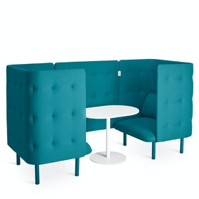 Teal QT Privacy Lounge Chair Booth
