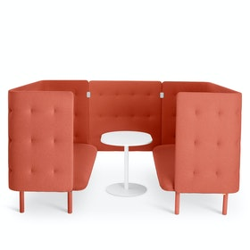 Brick QT Privacy Lounge Sofa Booth