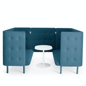 Dark Blue QT Privacy Lounge Sofa Booth