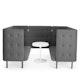 Dark Gray QT Sofa Booth,Dark Gray,hi-res