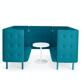Teal QT Privacy Lounge Sofa Booth