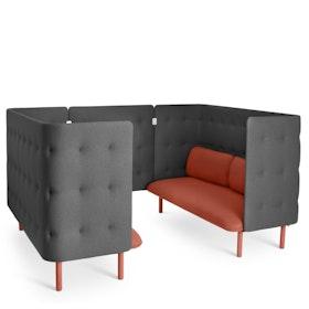 Brick + Dark Gray QT Sofa Booth