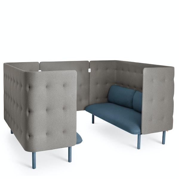 Dark Blue + Gray QT Sofa Booth,Dark Blue,hi-res