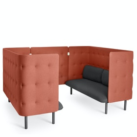 Dark Gray + Brick QT Sofa Booth