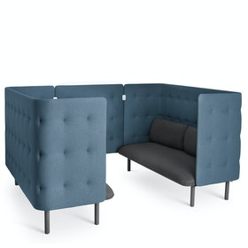 Dark Gray + Dark Blue QT Sofa Booth