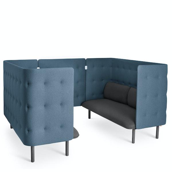 Dark Gray + Dark Blue QT Sofa Booth,Dark Gray,hi-res