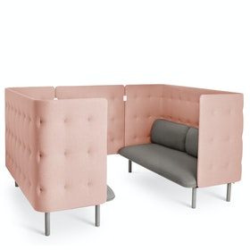 Gray + Blush QT Sofa Booth