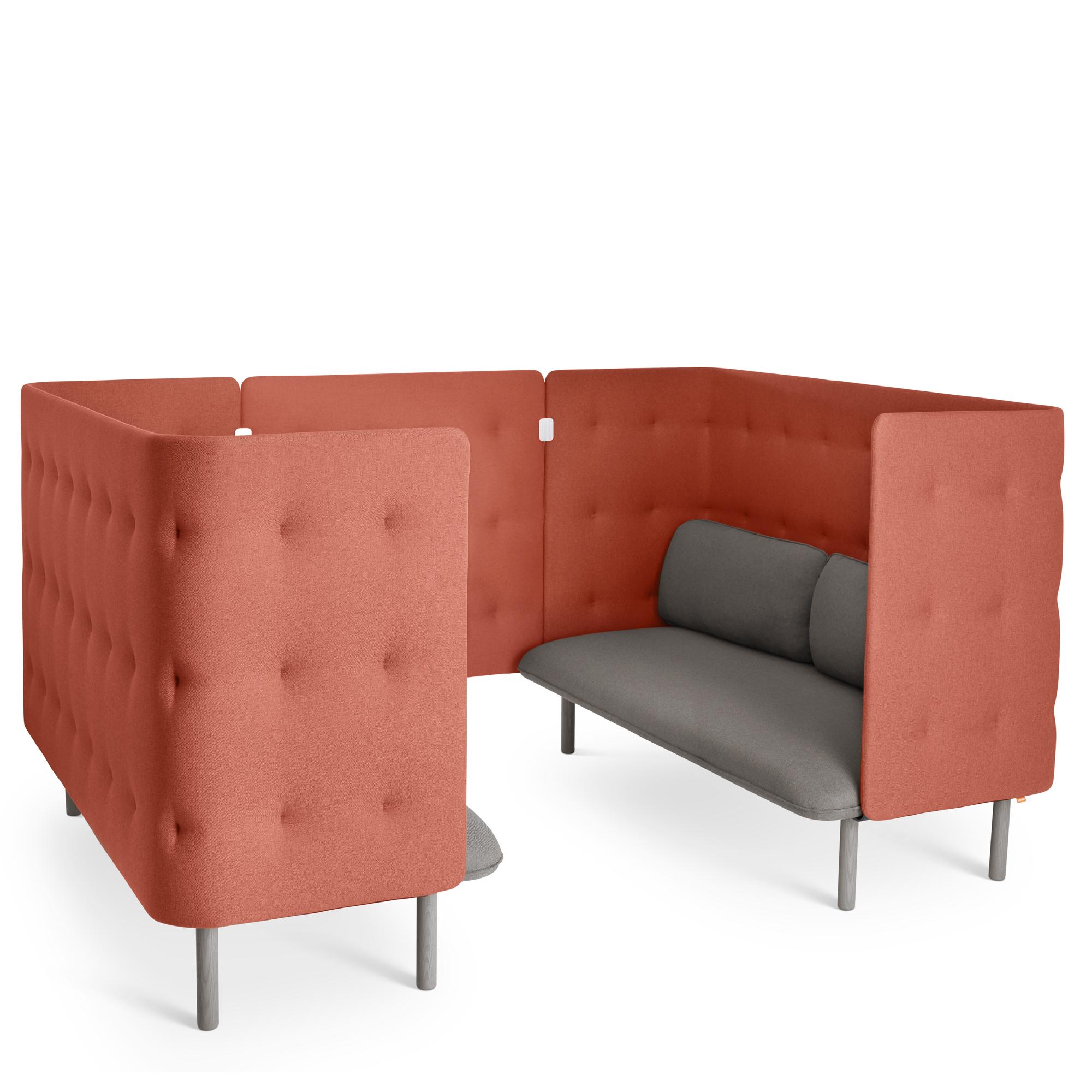 Gray Brick Qt Sofa Booth Privacy