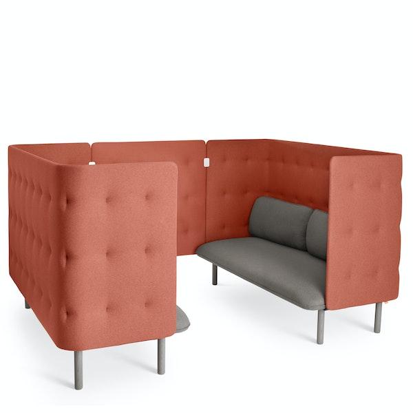 Gray + Brick QT Sofa Booth,Gray,hi-res