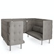 Gray QT Privacy Lounge Sofa Booth,Gray,hi-res