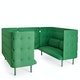 Leaf Green QT Sofa Booth,Leaf Green,hi-res