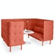 Brick QT Sofa Booth,Brick,hi-res