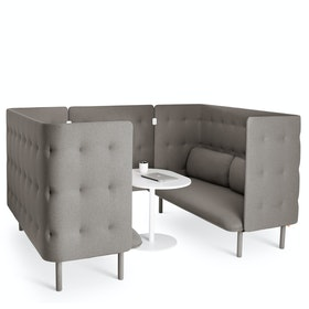 Gray QT Sofa Booth